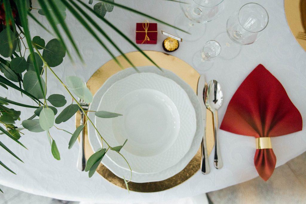Ozdoby ślubne na sali w pałacu Balcerowo w Gnieźnie