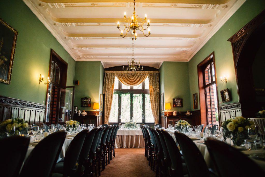Widok na całą salę weselną w Wąsowie fotografia ślubna gniezno poznań