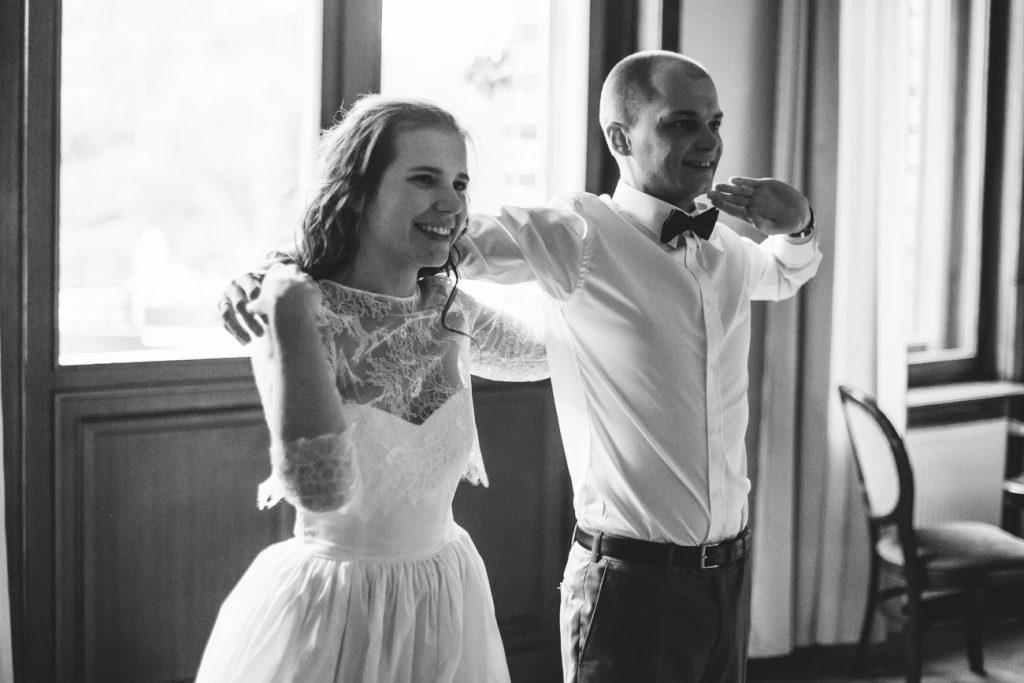 Pierwszy taniec Pary Młodej w Pałacu Wąsowo