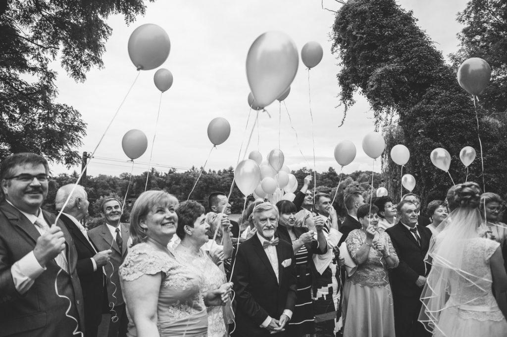 Balony na wesele i ślub hel fotograf ślubny wierzenica