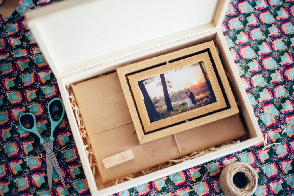 Photo album with accessories. Wedding photography Krotoszyn